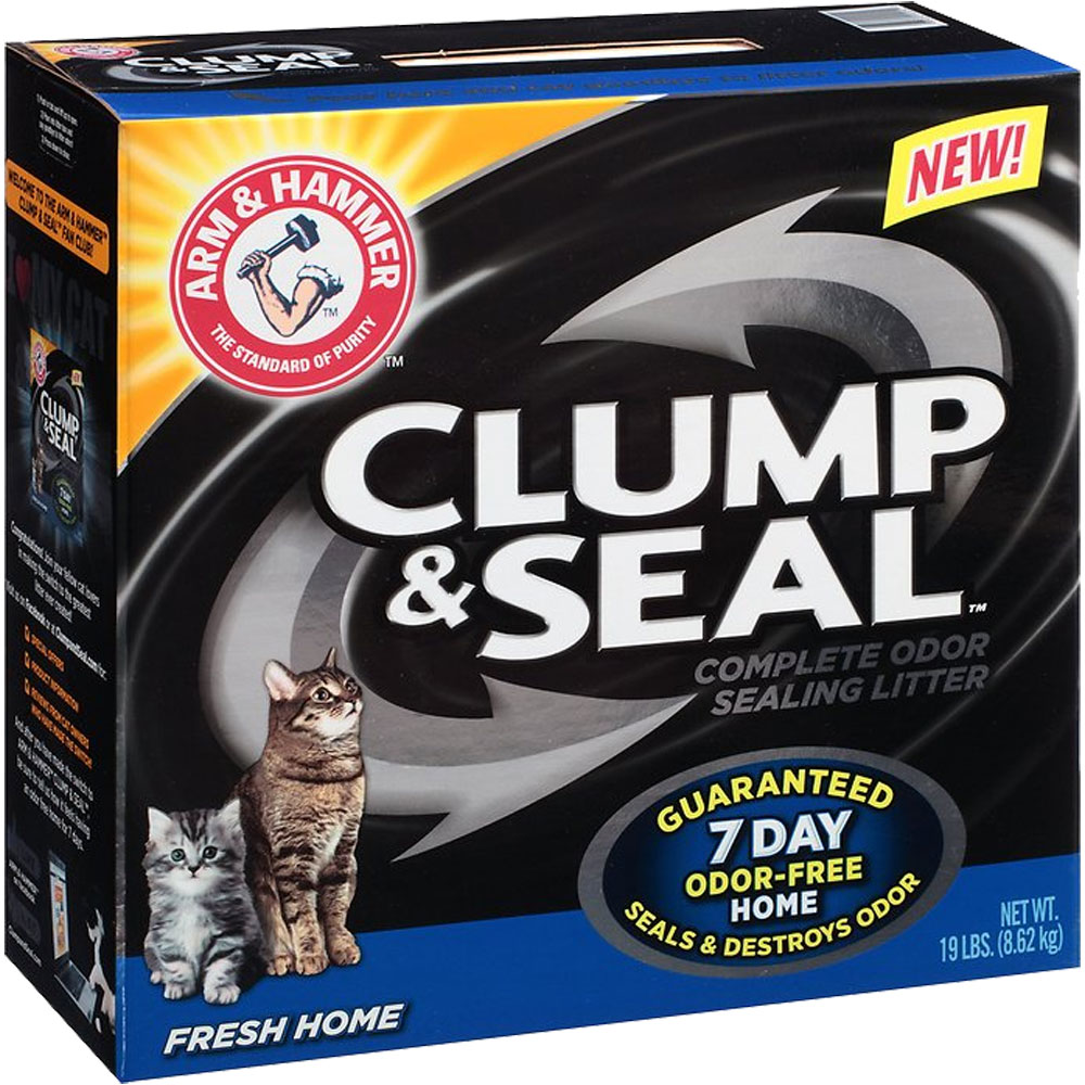 Image of Arm & Hammer Clump & Seal Complete Odor Sealing - Fresh Home Cat Litter (19 lb)