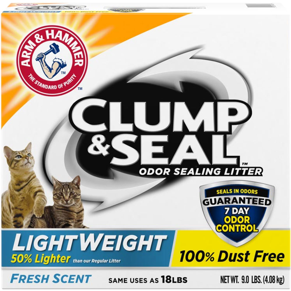 Arm & Hammer Clump & Seal Lightweight Cat Litter - Fresh Scent - 9 lb - from EntirelyPets