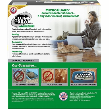 ARM-HAMMER-CLUMP-SEAL-MICROGUARD-MULTI-CAT-LITTER-9LB