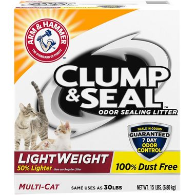 Pack of 3 Arm And Hammer Clump And Seal Multi-Cat Litter 28 Lb.