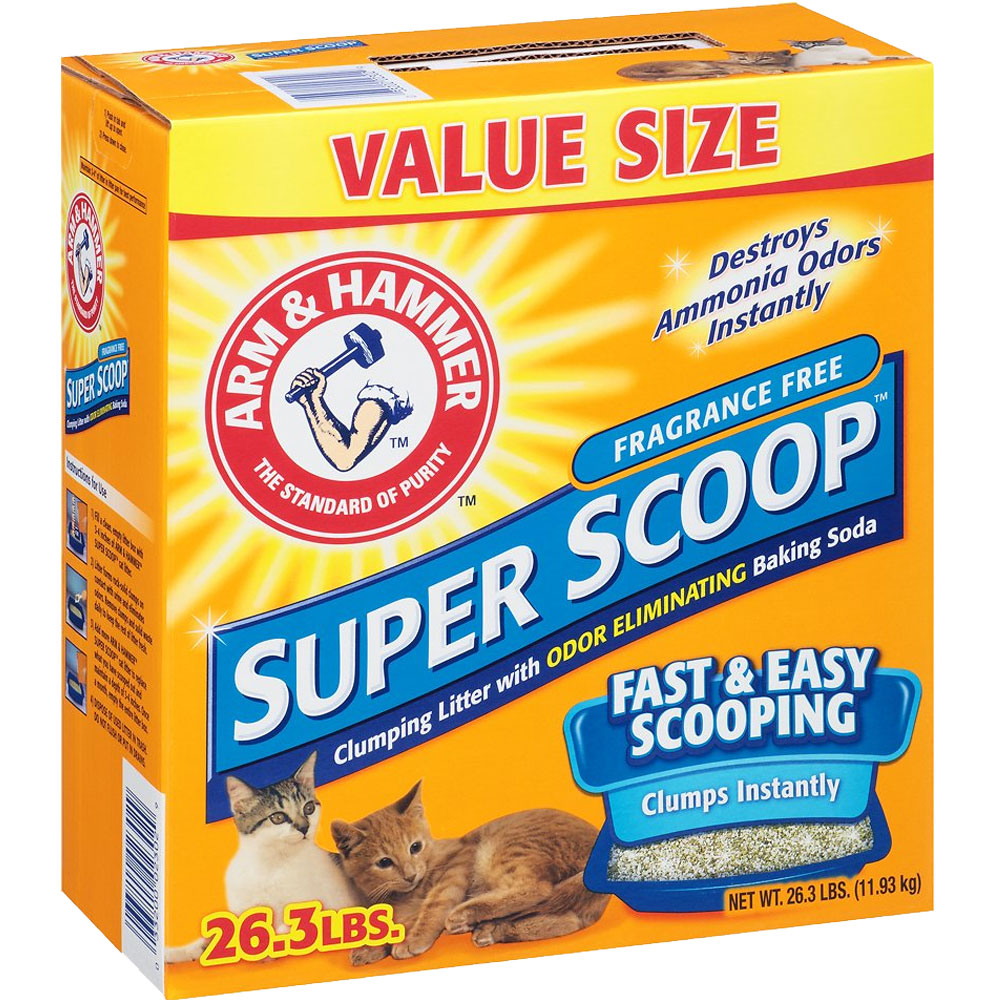 Arm & Hammer Super Scoop Clumping Litter - Fragrance Free - 26.3 lb - from EntirelyPets