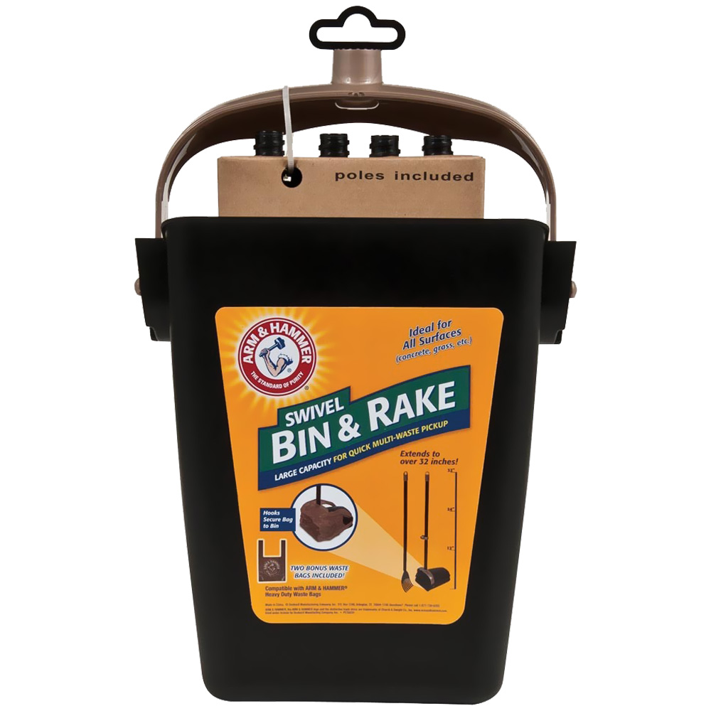 Arm & Hammer Swivel Bin & Rake (Black/Penny) im test