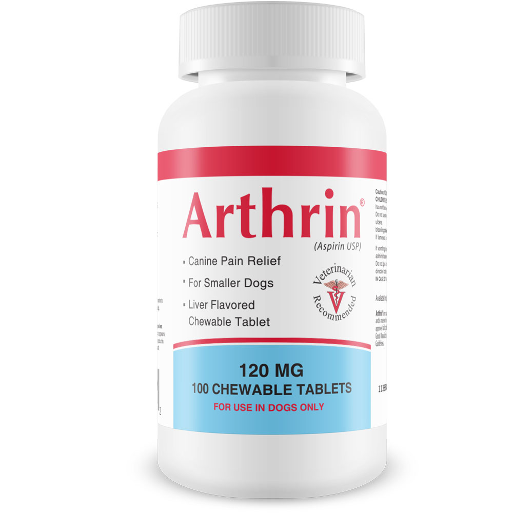 Arthrin Canine Aspirin 120 mg For Smaller Dogs (100 Chewable Tablets) im test