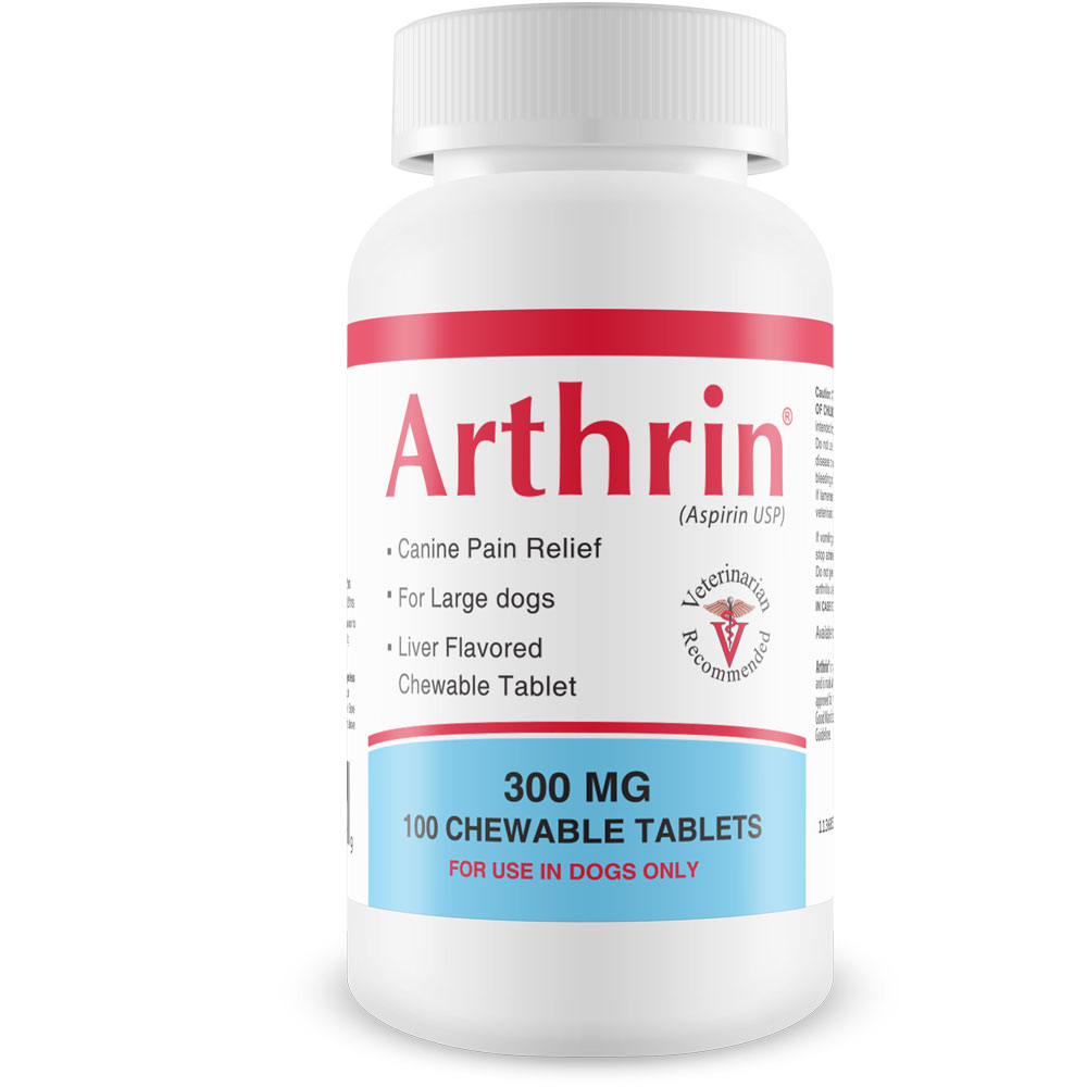 Arthrin Canine Aspirin 300 mg For Larger Dogs (100 Chewable Tablets) im test
