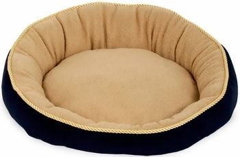 "Aspen Pet Round Bed With Eliptical Bolster (18"") - Assorted Colors"