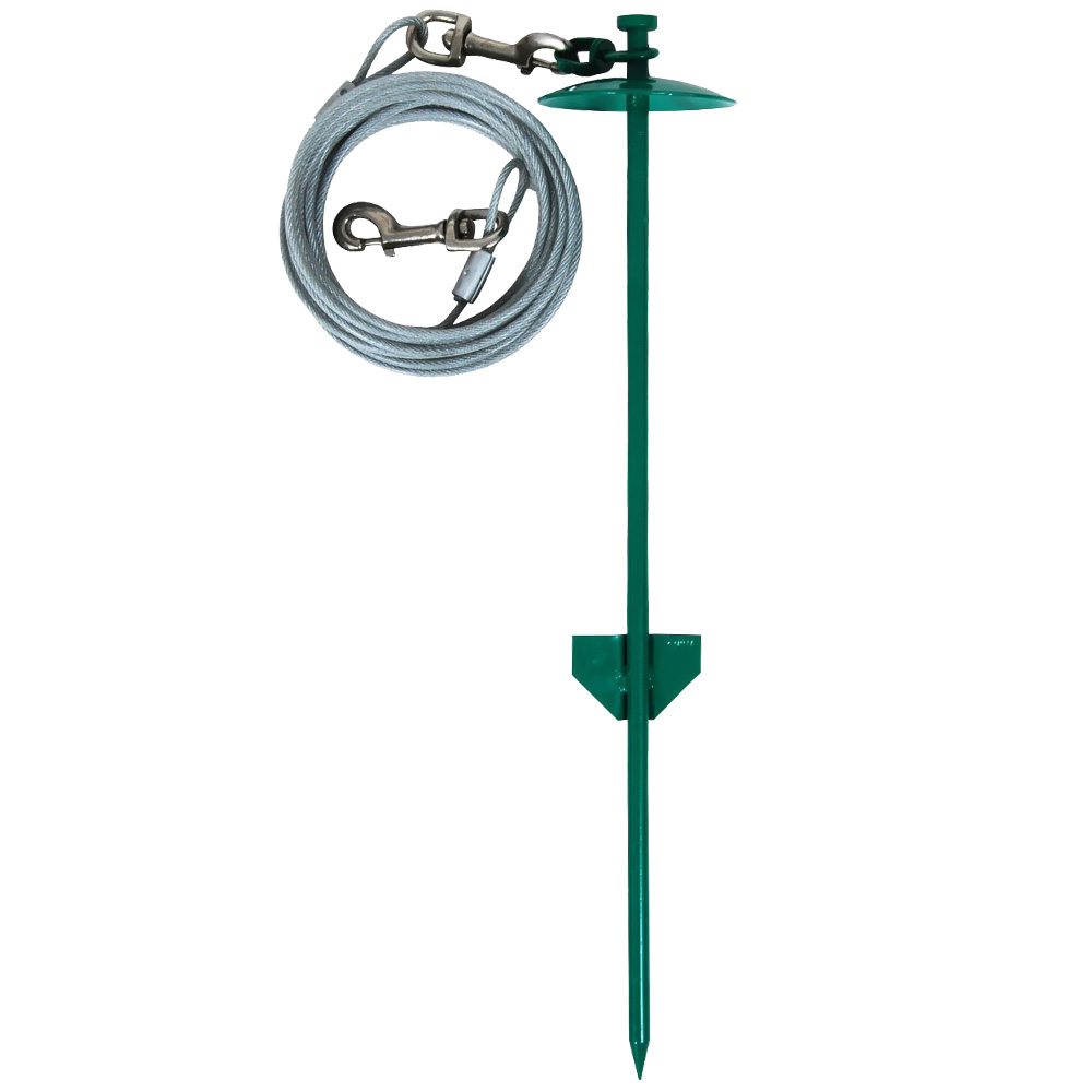 "Image of Aspen Pet Stake Large 20"" Dome with 20 Feet Tieout - For Dogs - from EntirelyPets"