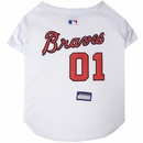 Atlanta Braves Dog Jersey - XSmall