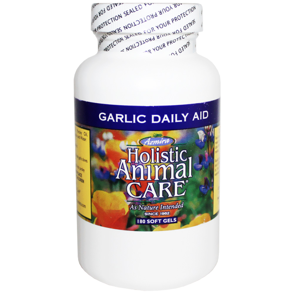 Image of Azmira Holistic Animal Care Garlic Daily Aid (180 Soft Gels)