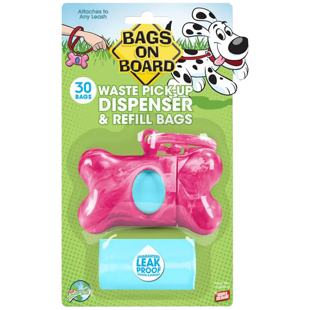 BAGS-ON-BOARD-DISPENSER-REFILL-PINK-MARBLE-BONE-30-BAGS