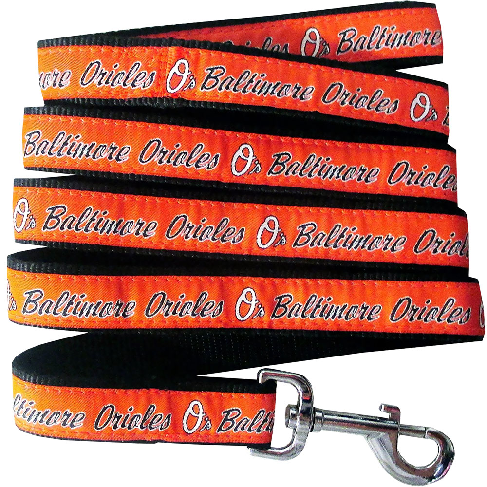 Baltimore Orioles Dog Leash - Ribbon from EntirelyPets