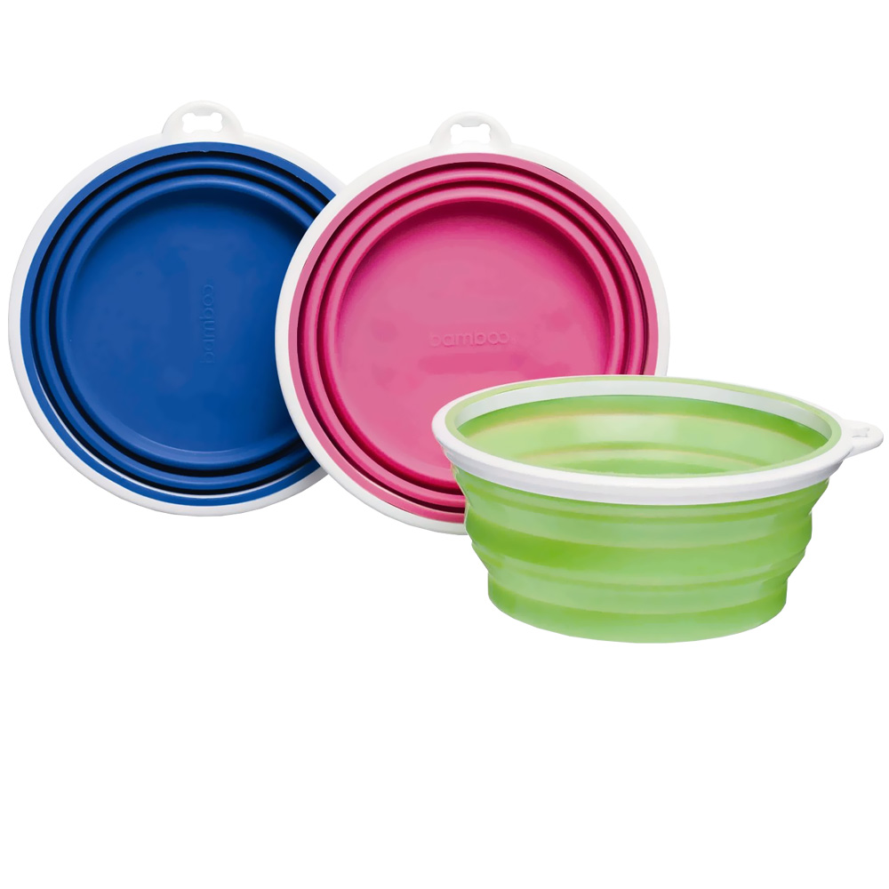 Bamboo Silicone Travel Bowl 3 Cup - Assorted im test