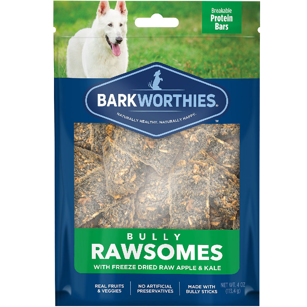 Barkworthies Bully Rawsomes with Freeze-Dried Raw Apple & Kale Dog Treats (4 oz) im test
