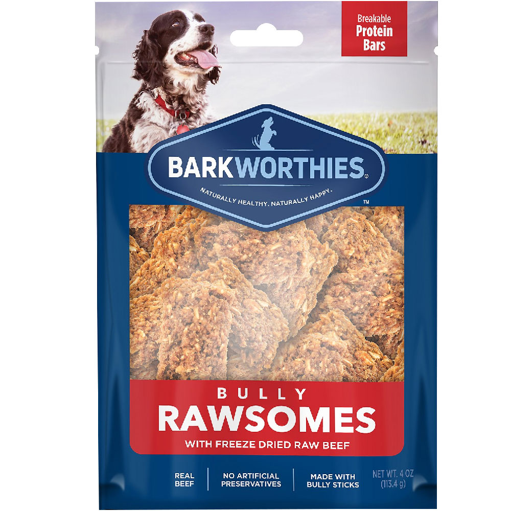 Barkworthies Bully Rawsomes with Freeze-Dried Raw Beef Dog Treats (4 oz) im test