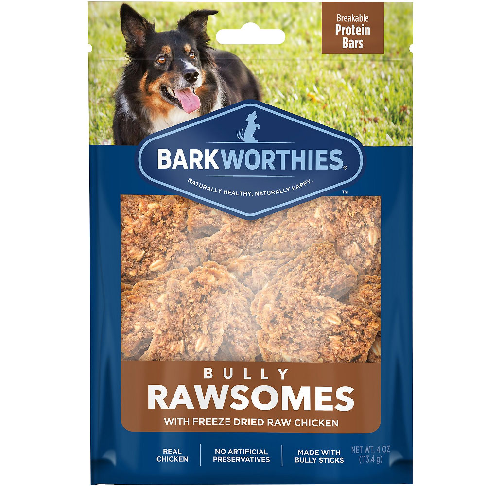 Barkworthies Bully Rawsomes with Freeze-Dried Raw Chicken Dog Treats (4 oz) im test