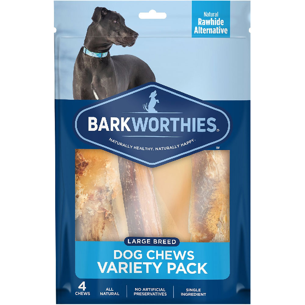 Barkworthies Large Breed Variety Pack Natural Dog Chews (4 count) im test
