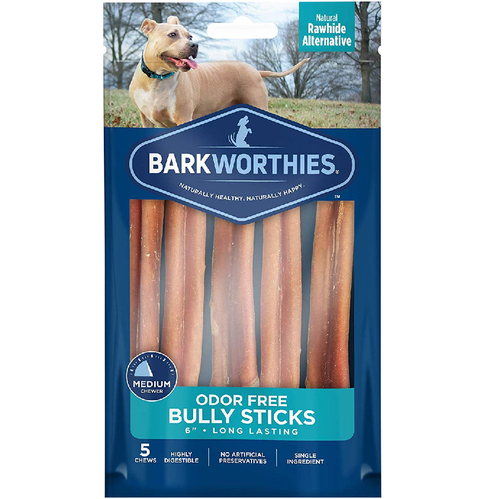 """Barkworthies Odor-Free 6"""" Bully Stick Dog Treats (5 pack)"" im test"