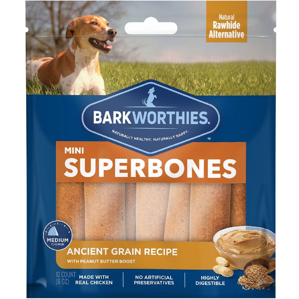 Barkworthies SuperBone Ancient Grain with Peanut Butter - Mini (12-Pack) im test