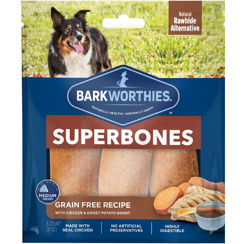 Barkworthies SuperBone Grain Free with Chicken & Sweet Potato - Regular (3-Pack) im test