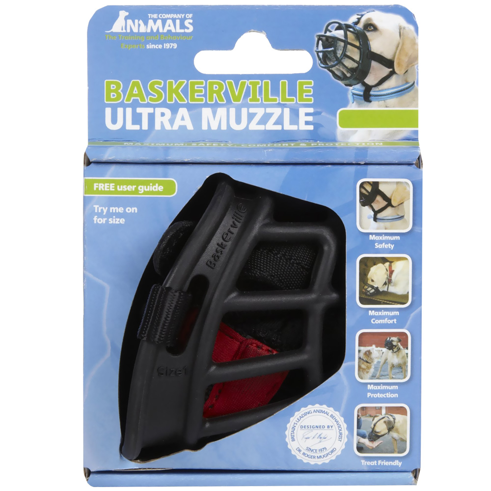 Baskerville Ultra Muzzle Size 1 - For Dogs - from EntirelyPets