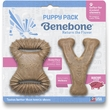 Benebone Bacon Flavor Puppy Pack Wishbone/Dental Chews Dog Toy, 2 count