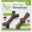 Benebone Bacon Flavor Tiny 2-Pack Mapplestick/Zaggler Dog Toy, 2 count