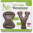Benebone Bacon Flavor Tiny 2-Pack Wishbone/Dental Chews Dog Toy, 2 count