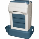 "Bergan K-9 Cafe Tray Pack Pet Food Dispenser - Gray/Blue (26"" x 23.25"" x 15"")"