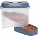 "Bergan Pet Travel Feeder - Blue (11.5"" X 11.5"" X 6.3"")"