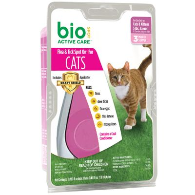 Bio Spot Acitive Care with Smart Shield Applicator (3 month) - Cats over 5 lbs