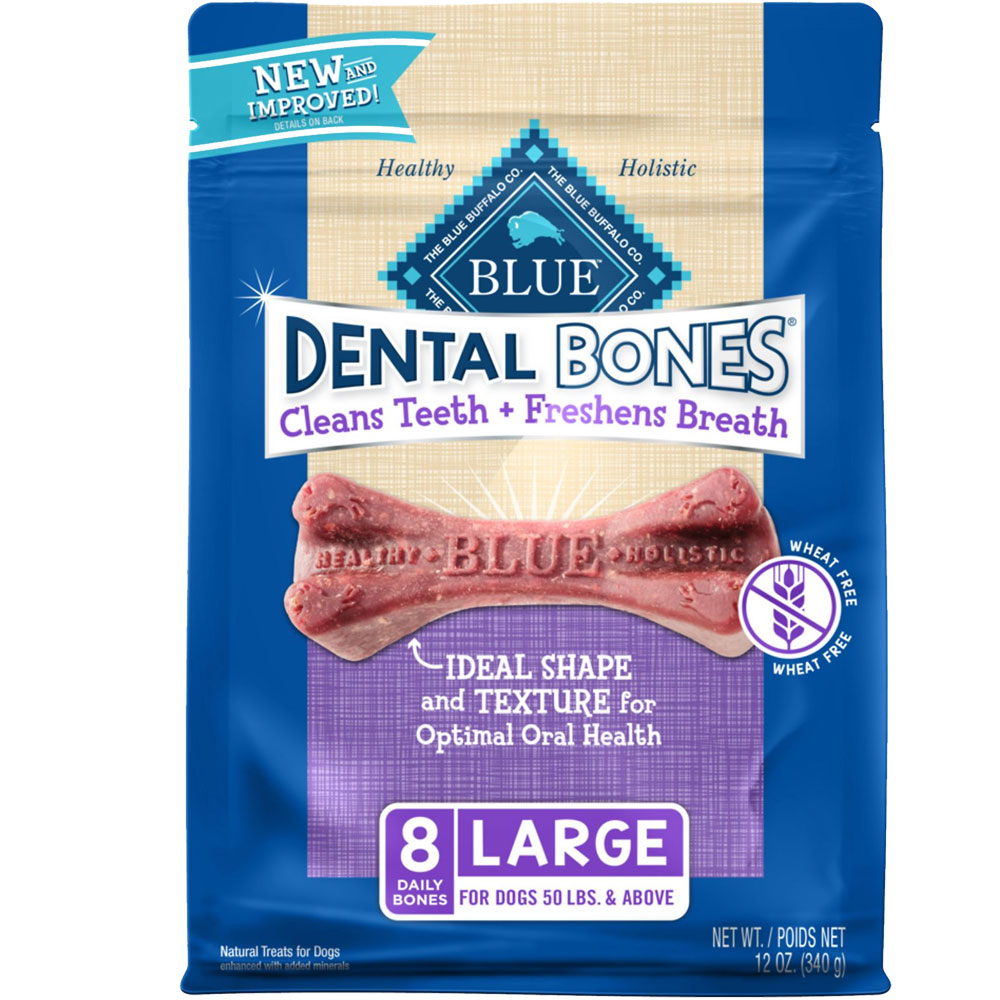 Image of Blue Buffalo Dental Bones 12oz - Large (8 Bones)