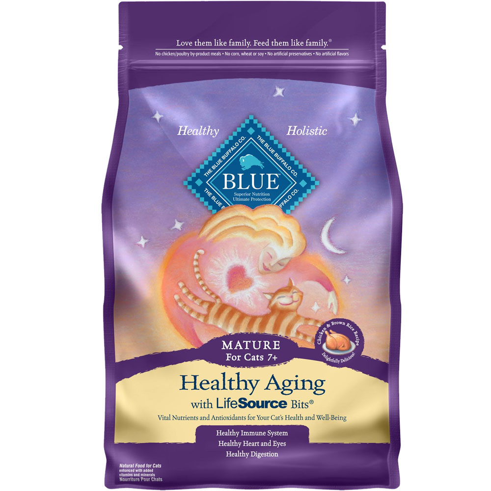 Blue Buffalo Healthy Aging Mature Chicken & Brown Rice Recipe (7 lb) im test