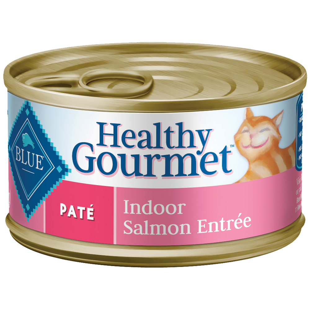 Blue Buffalo Healthy Gourmet - Pate Indoor Salmon Entree for Cats - (24x5.5 oz) im test