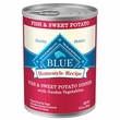 Blue Buffalo Homestyle Recipe Fish & Sweet Potato with Garden Vegetables & Brown Rice Canned Dog Food (12.5oz x 12)