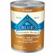 Blue Buffalo Homestyle Recipe Turkey Meatloaf Dinner with Garden Vegetables Canned Dog Food (12.5oz x 12)