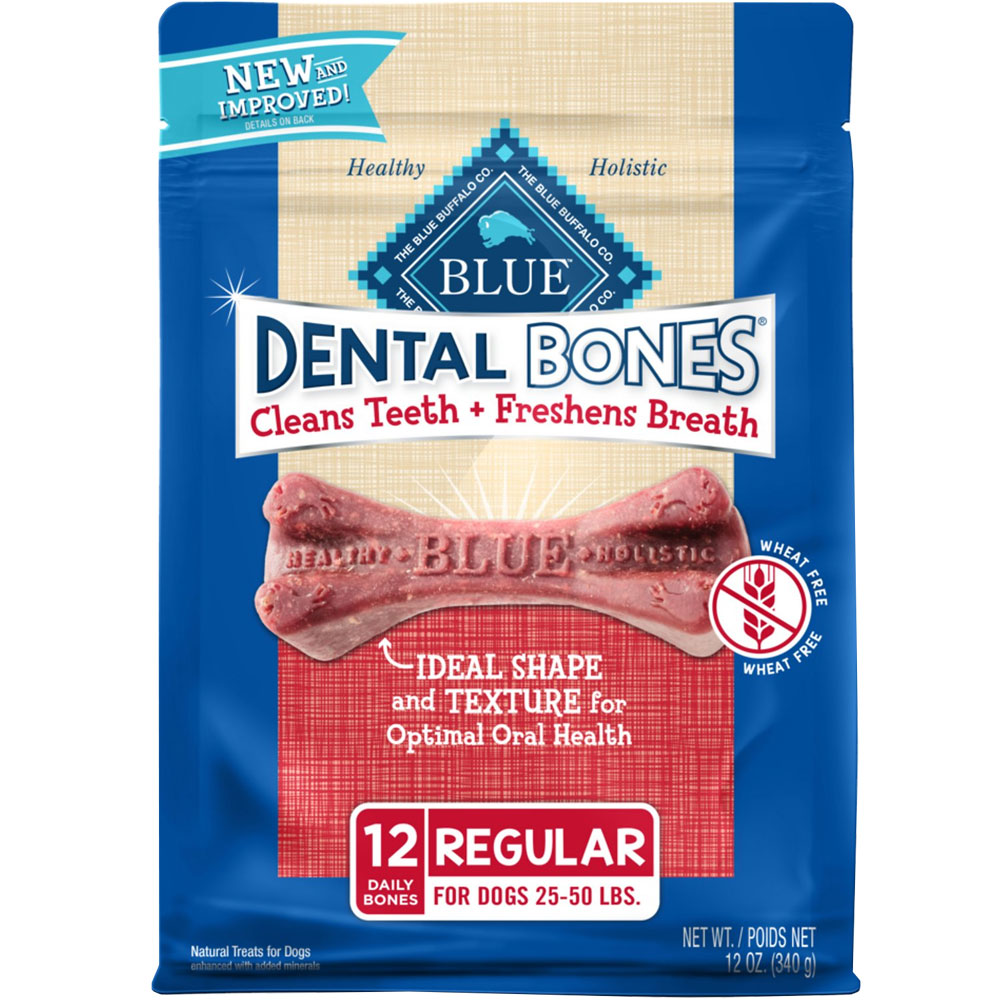 Bag of 12 Blue Dental Bones
