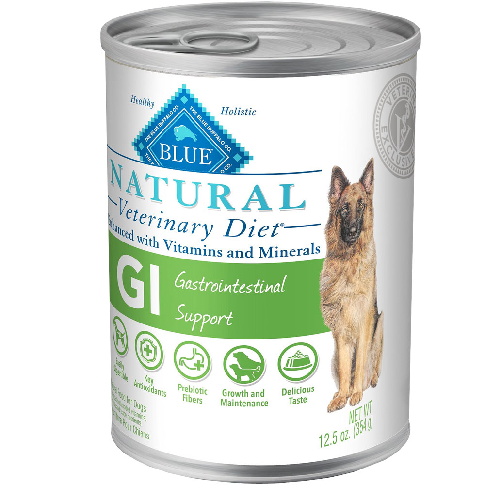 Image of Blue Buffalo Natural Veterinary Diet - GI Gastrointestinal Support Canned Dog Food (12-pack)