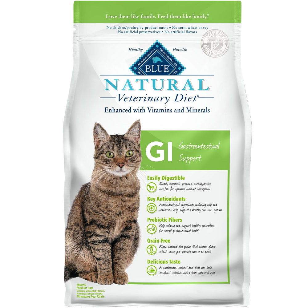 Image of Blue Buffalo Natural Veterinary Diet - GI Gastrointestinal Support Dry Cat Food (4x7 lb)