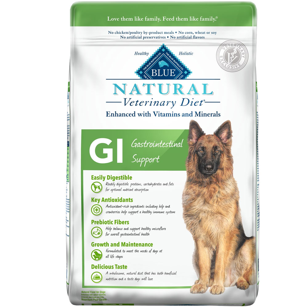 Blue Buffalo Natural Veterinary Diet - GI Gastrointestinal Support Dry Dog Food (6 lb)