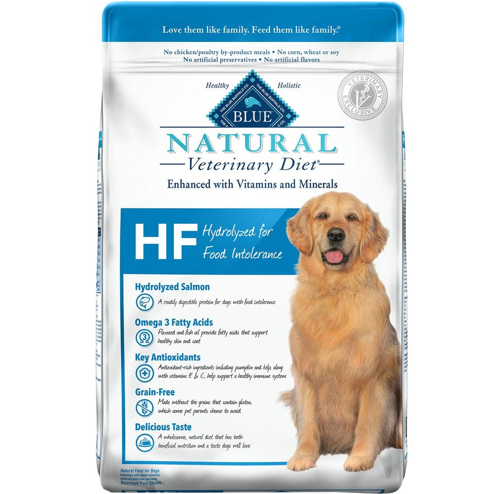 Image of Blue Buffalo Natural Veterinary Diet - HF Hydrolyzed for Food Intolerance Dry Dog Food (5x6 lb)