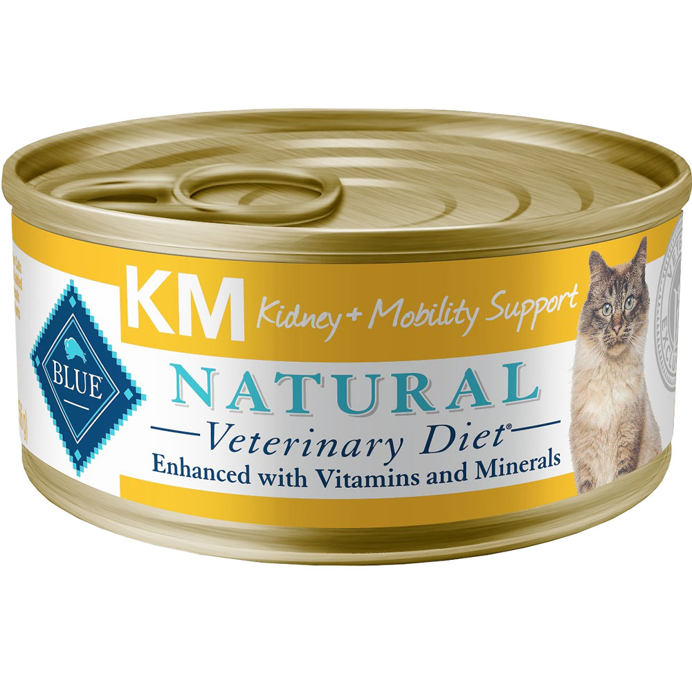 Image of Blue Buffalo Natural Veterinary Diet - KM Kidney + Mobility Support Canned Cat Food (24-pack)