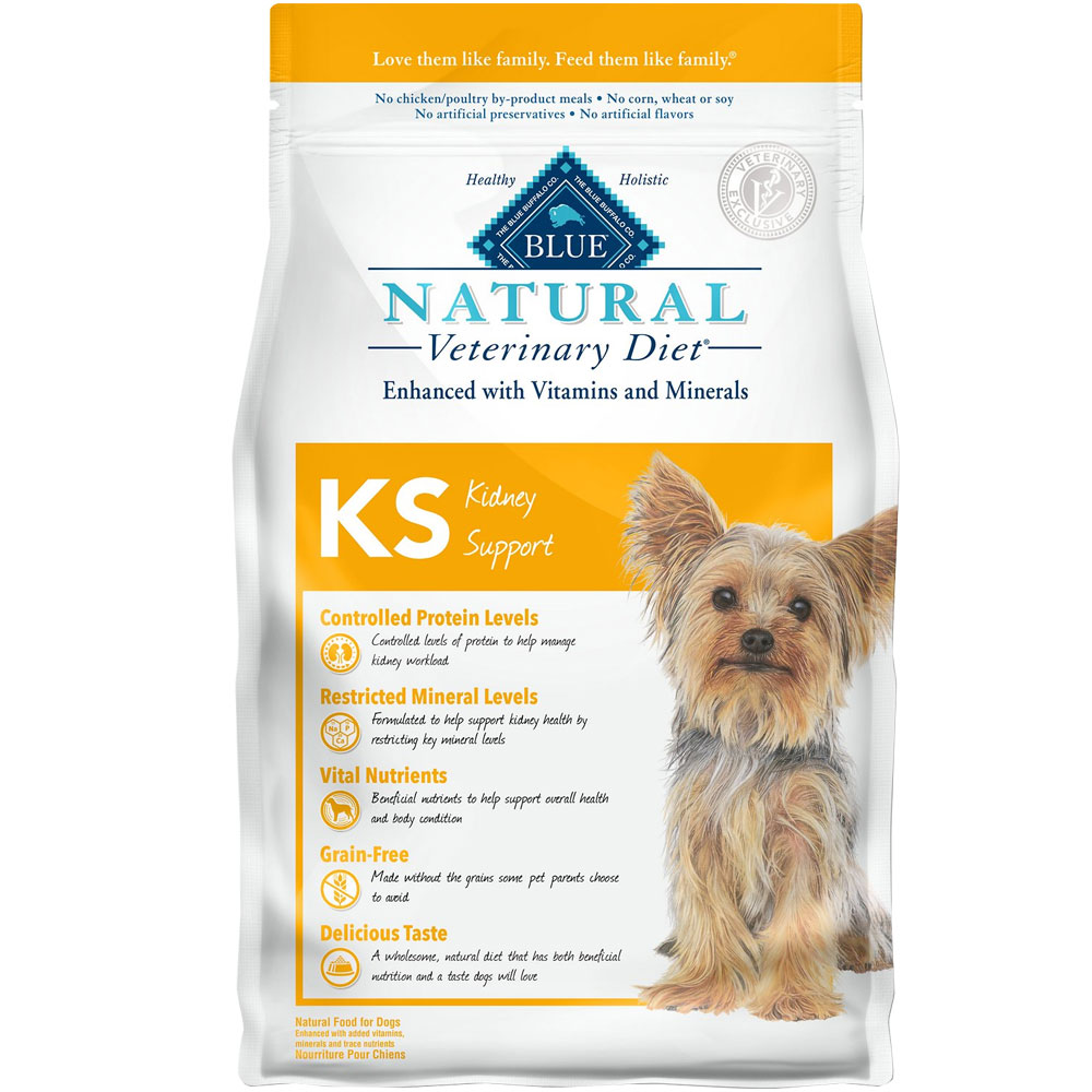 Image of Blue Buffalo Natural Veterinary Diet - KS Kidney Support Dry Dog Food (5x6 lb)