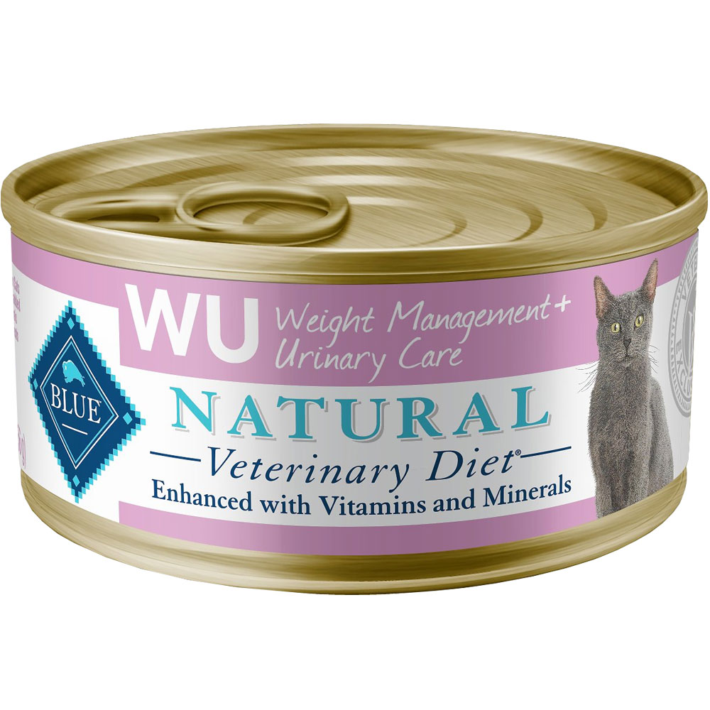 Image of Blue Buffalo Natural Veterinary Diet - W+U Weight Management + Urinary Care Canned Cat Food (24-pack)