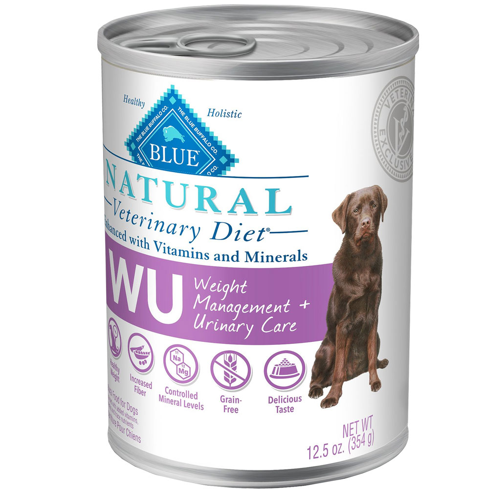 Image of Blue Buffalo Natural Veterinary Diet - W+U Weight Management + Urinary Care Canned Dog Food (12-pack)