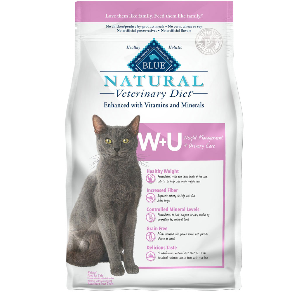 Image of Blue Buffalo Natural Veterinary Diet - W+U Weight Management + Urinary Care Dry Cat Food (4x6.5 lb)