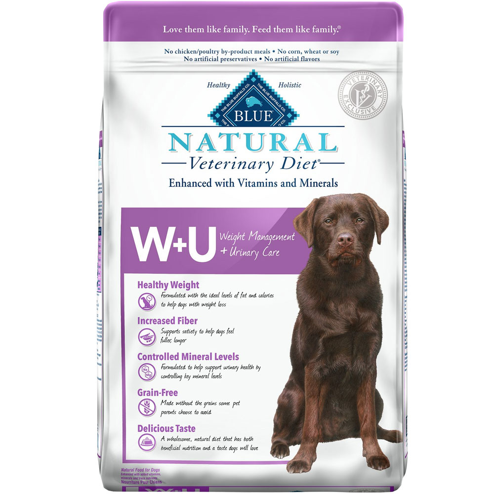 Image of Blue Buffalo Natural Veterinary Diet - W+U Weight Management + Urinary Care Dry Dog Food (4x6 lb)