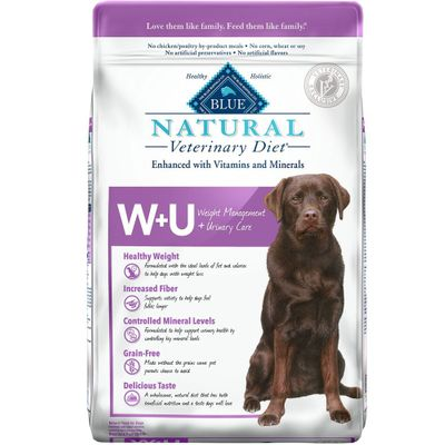 Blue Buffalo Natural Veterinary Diet - W+U Weight Management + Urinary Care Dry Dog Food (6 lb