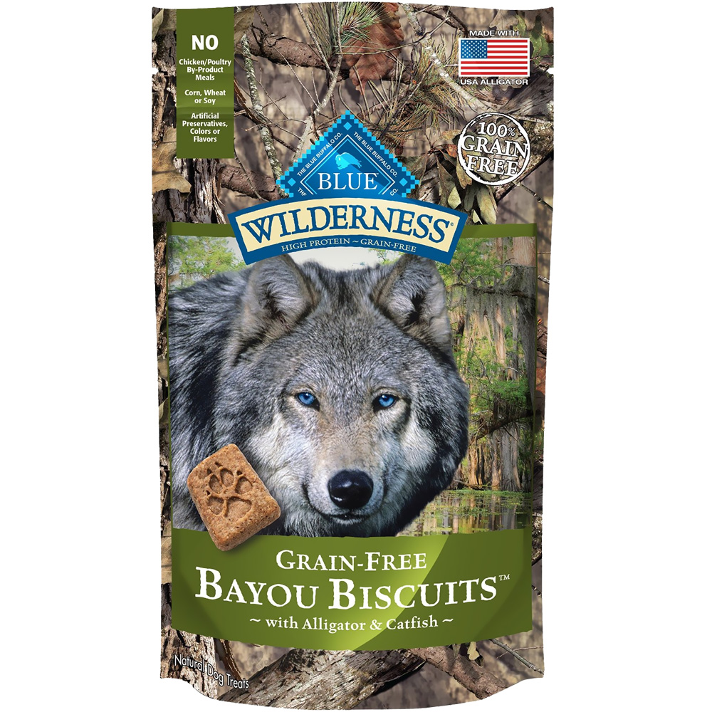 Blue Buffalo Wilderness Bayou Biscuits - Alligator & Catfish (8 oz) im test