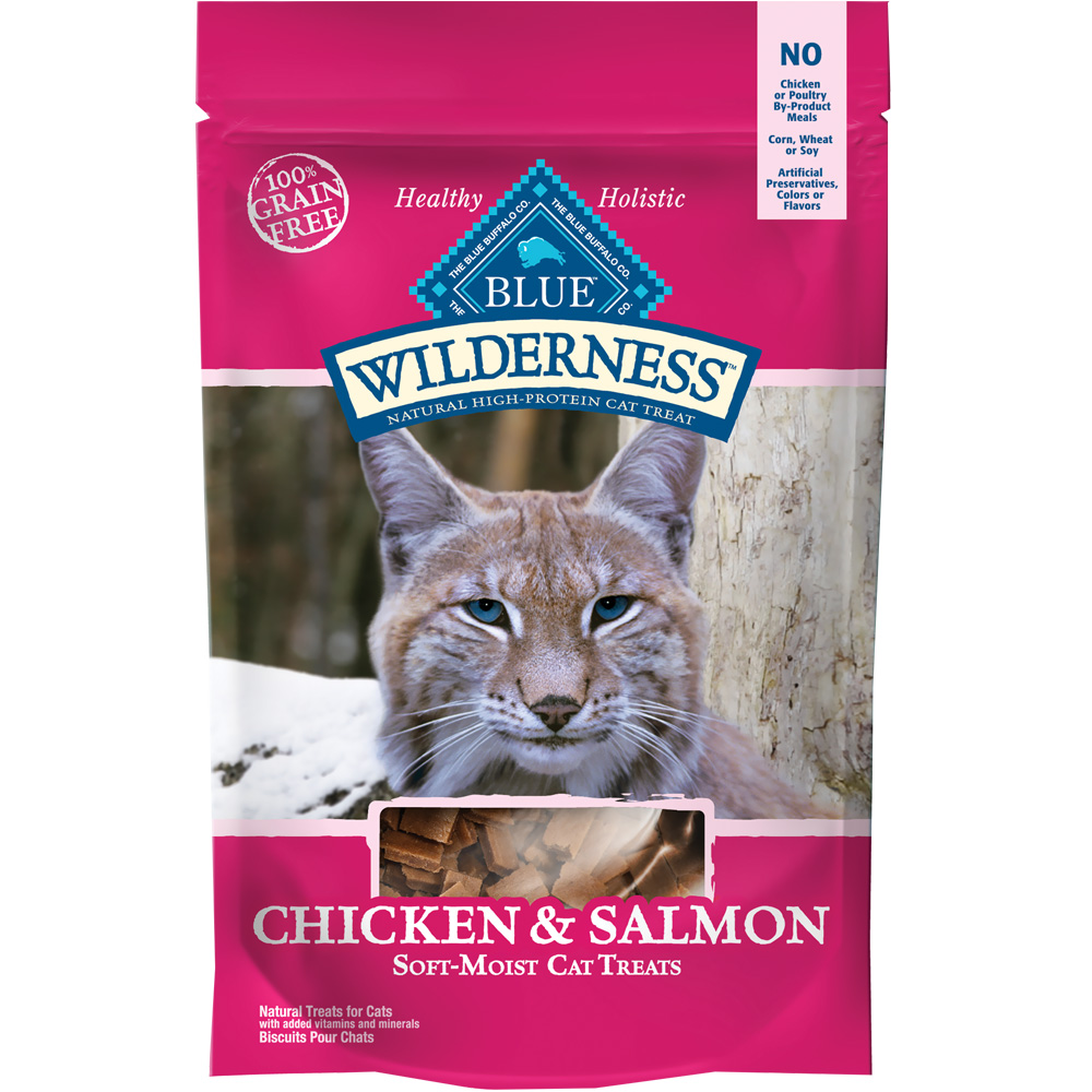 Image of Blue Buffalo Wilderness Cat Treats - Chicken & Salmon (2 oz)