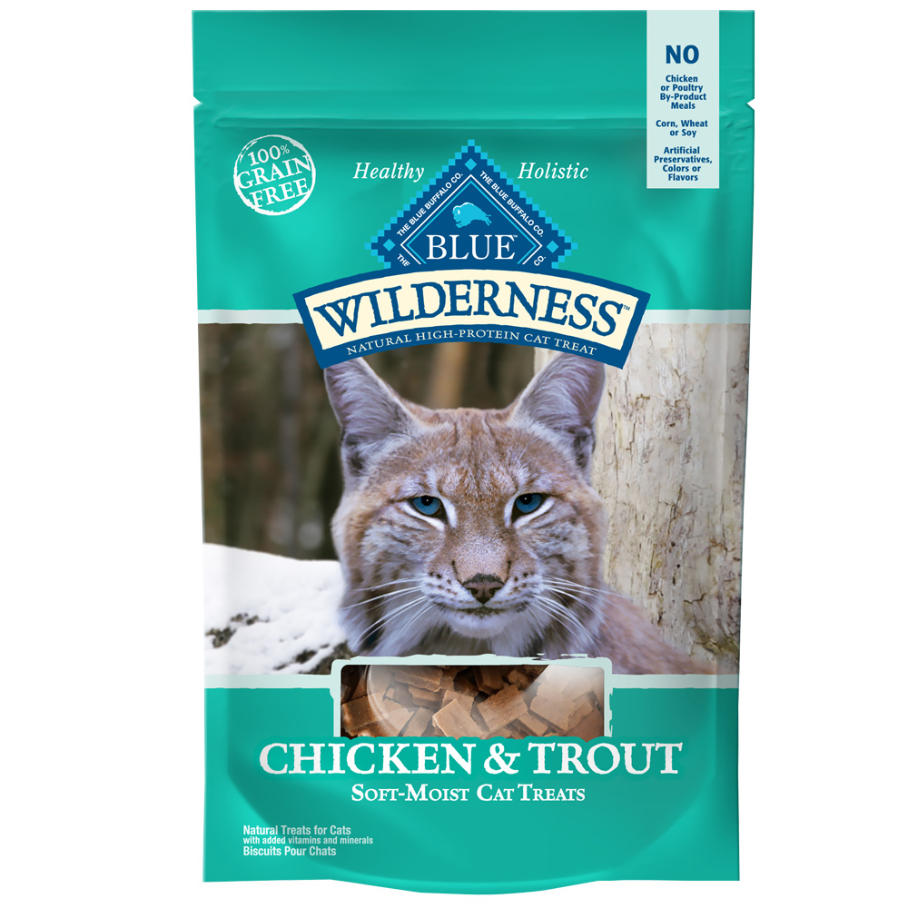 Blue Buffalo Wilderness Chicken & Trout Cat Treats - 2 oz - from EntirelyPets
