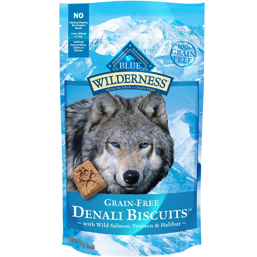 Blue Buffalo Wilderness Denali Biscuits - Wild Salmon, Venison & Halibut (8 oz) im test